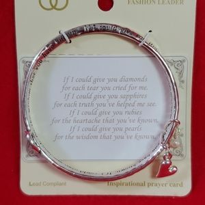 """Mom"" sentiment bangle bracelet"